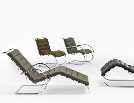 MR mies van der rohe chaise lounge adjustable
