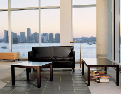 Mies van der Rohe Sette and Table