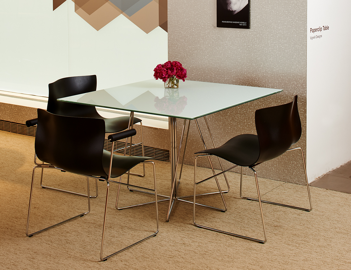 Knoll Paper Clip Table and Handerchief Chair by Massimo Vignelli