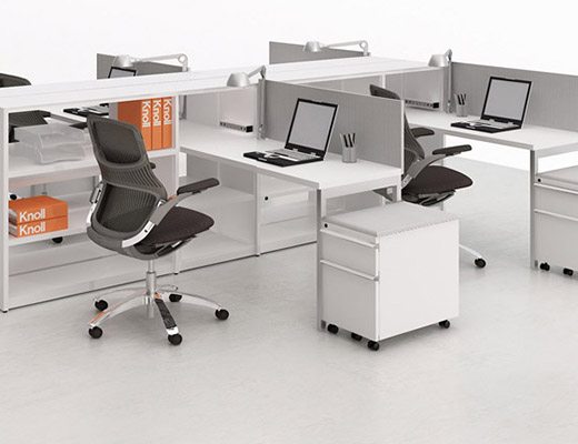Template open plan workstation