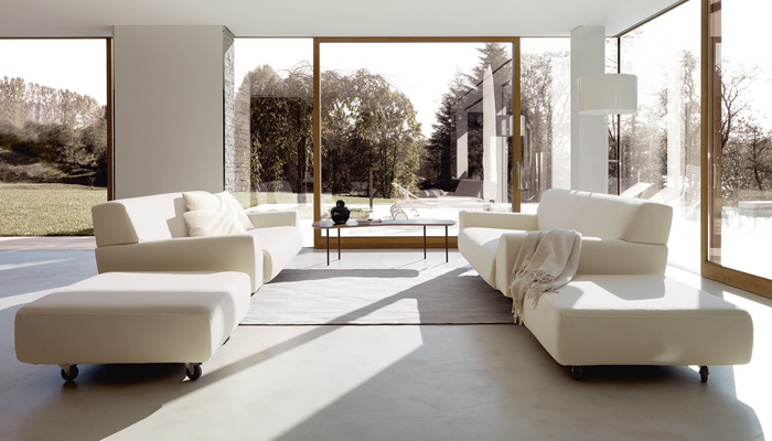 Cini Boeri Sofas and Ottomans, Coffee Table by Alexander Girard