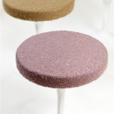 Lowell and Byron upholstery by Rodarte for KnollTextiles on Saarien Tulip Stool