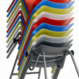 Spark Series chair by Don Chadwick on mobile dolly
