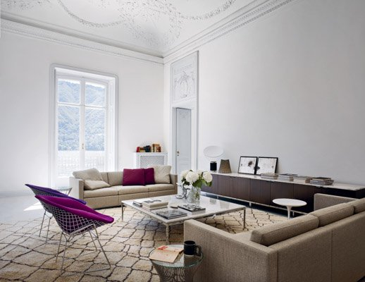 Knoll Florence Knoll Cofee Table and Pfister Sofa Collection