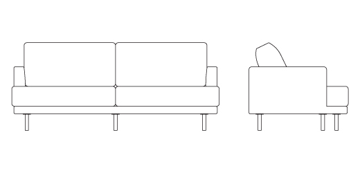 D Urso Contract Sofa Knoll