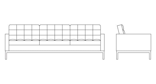 Florence Knoll Relaxed Sofa Knoll