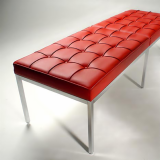 KnollStudio red Florence Knoll Bench