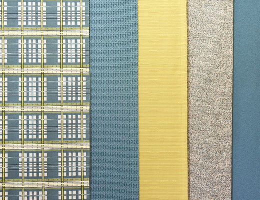 Mod Plaid, Totem, Dynamic, Artelier and Hourglass KnollTextiles