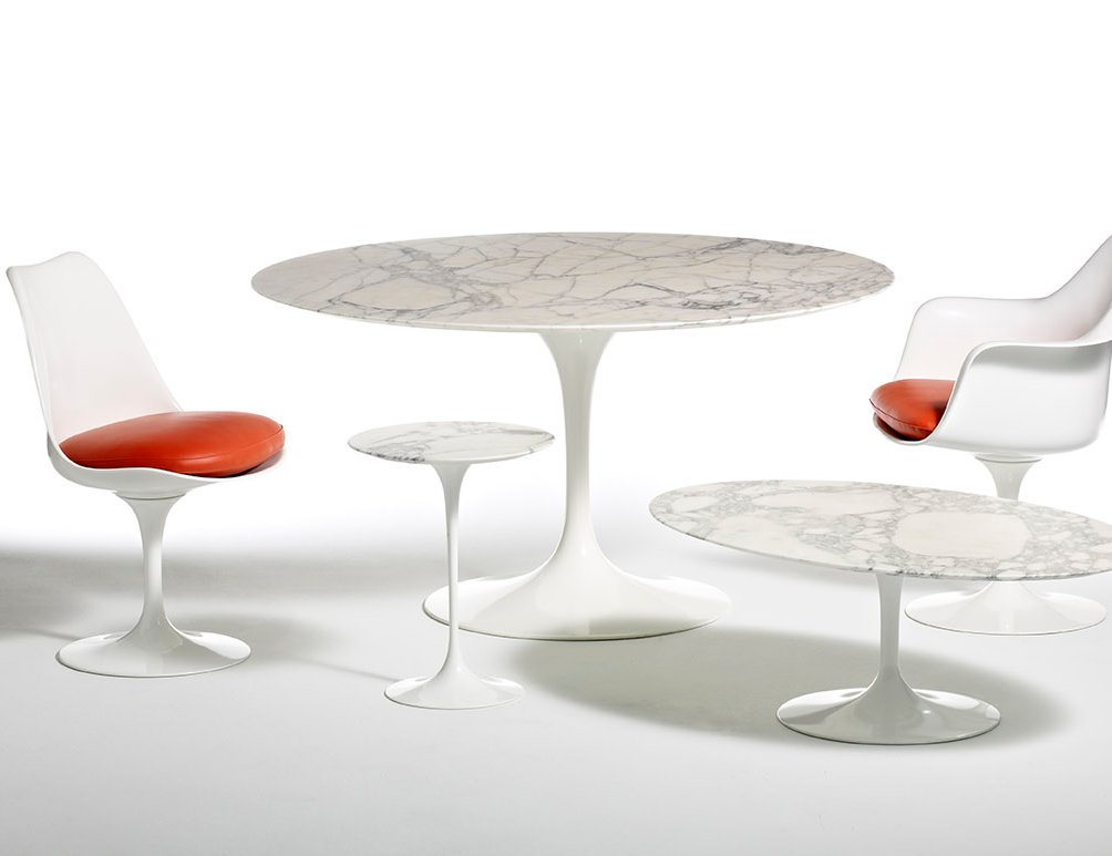 Saarinen Table Round Knoll - Eero saarinen tulip table and chairs