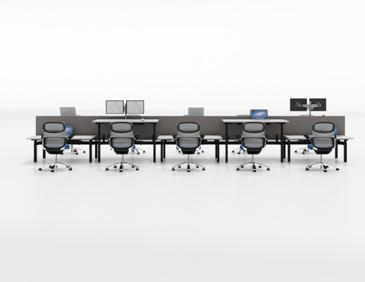 k. bench workplace systems furniture benching height adjustable desks k. collection