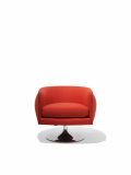 Adjustable seat height is operated with a low profile lever, flush mounted on the underside.