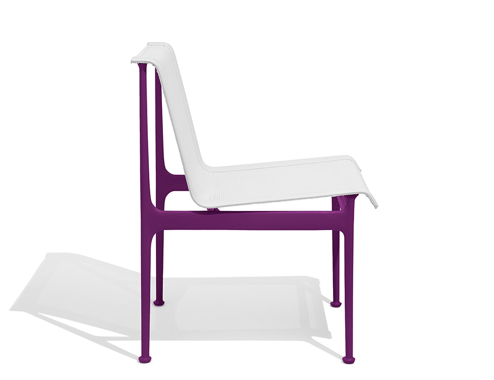 1966 Collection Dining Armless Chair plum Richard Schultz patio outdoor furniture