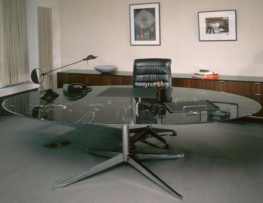 Florence Knoll Table Desk and Credenza