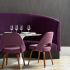 Oh La La Banquette Seurat on Saarinen Executive Chairs Grand Boulevard Wallcovering