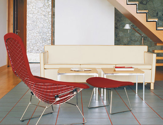 ... Bertoia Bird Chair And Ottoman ...