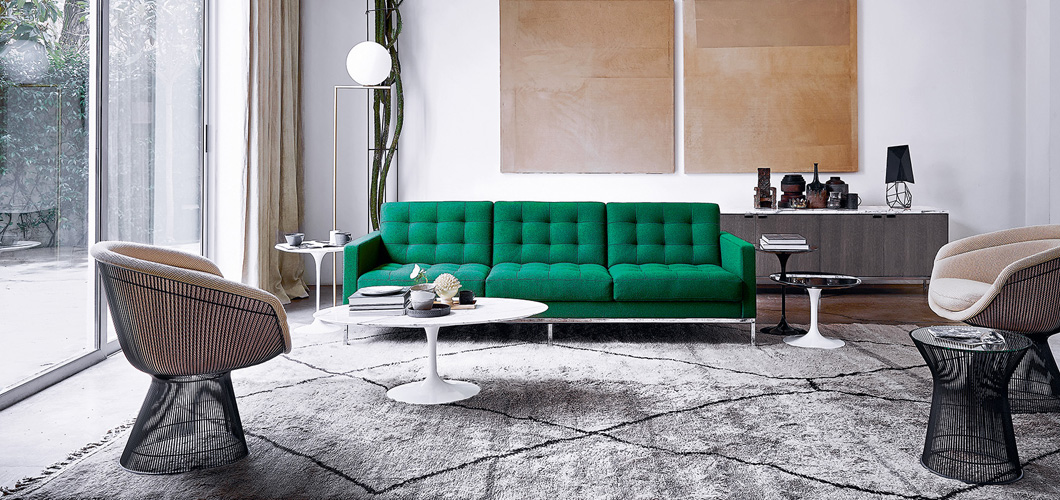 Florence Knoll Sofa Saarinen Coffee Table Platner Lounge