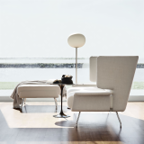 Architecture & Associés sofa and ottoman in white