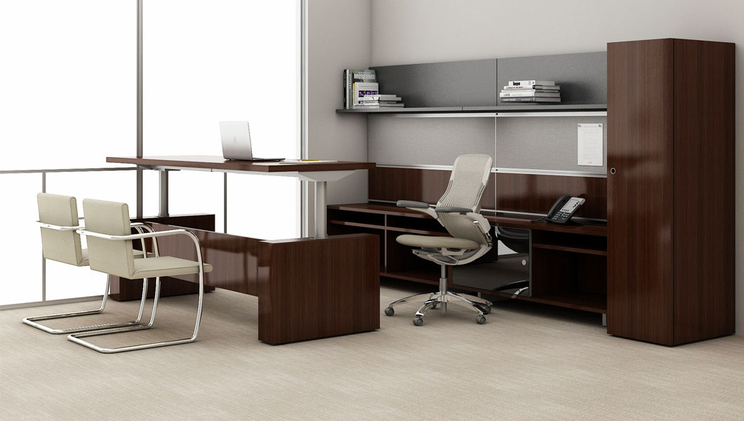Knoll Classic Private Office with Reff Profiles Height Adjustable