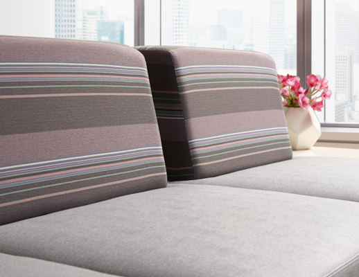 Stripemania and Color Field Bleach Cleanable Upholsteries