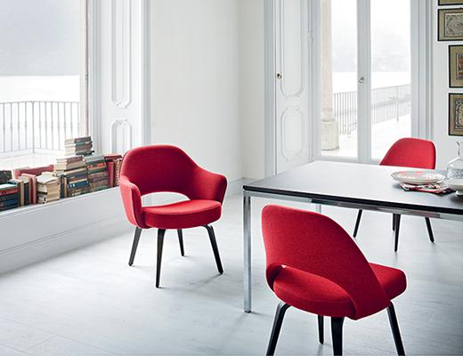 Saarinen Executive Side Chair; Knoll Eero Saarinen Executive Chairs ...