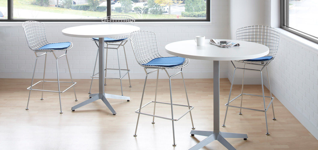 Knoll Bertoia Barstool and Antenna Workspaces Interpole