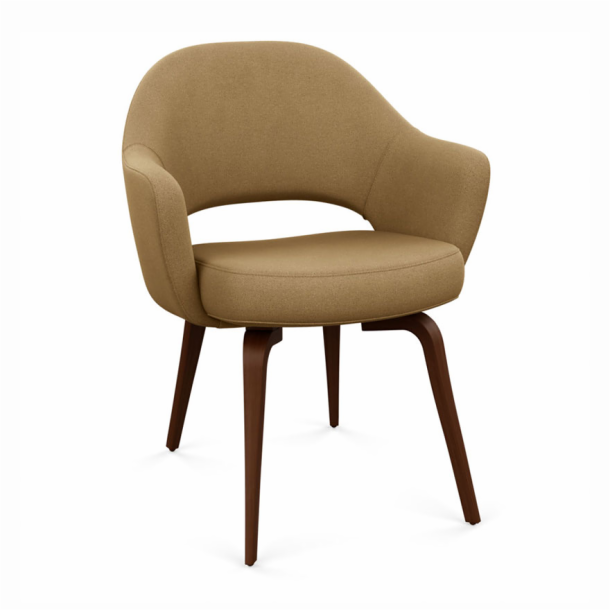 Saarinen Executive Chair - Armchair with Wood Legs