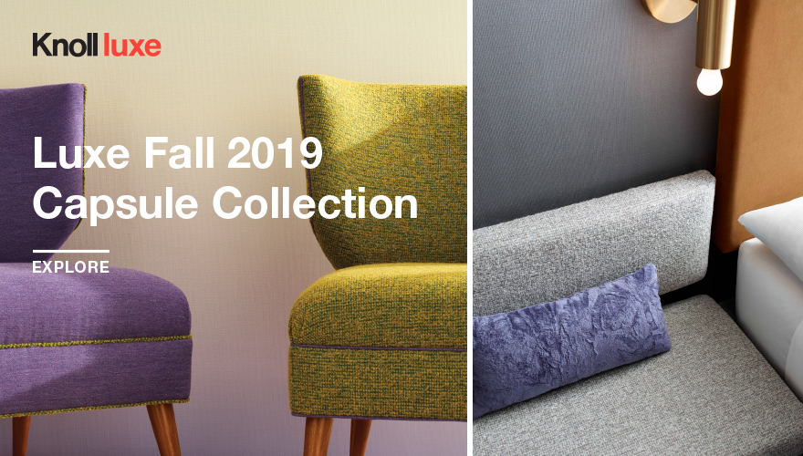 KnollTextiles Knoll Luxe Fall 2019 Capsule Collection