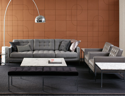 neocon showroom 2017 florence knoll relaxed lounge chair relaxed sofa relaxed settee florence knoll end and coffee tables saarinen side tables spinnybeck beller collection