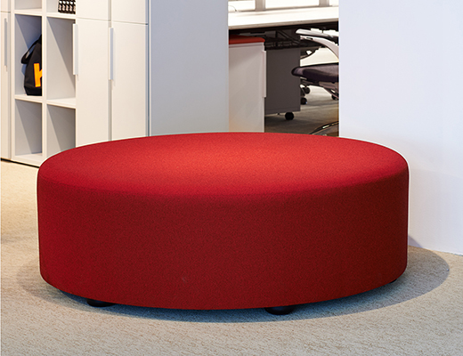 Knoll red k lounge sofa