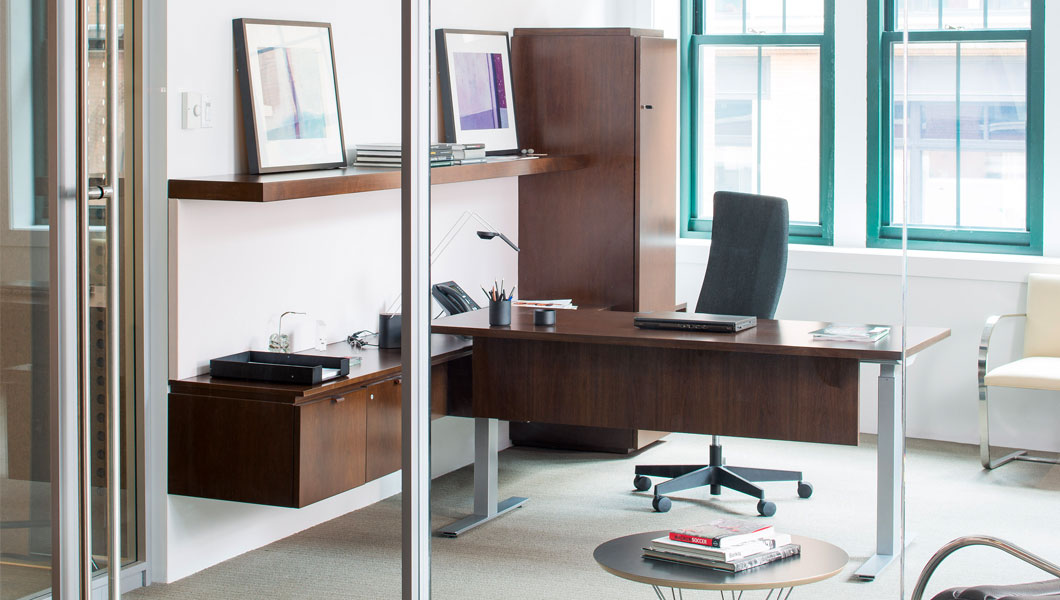 Knoll Efficient Private Office with Reff Profiles