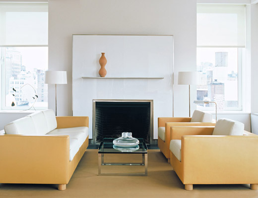SM2 Sofa, SM2 Lounge Chair, Shelton Mindel Coffee Table