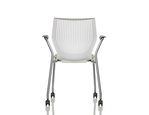 MultiGeneration by Knoll white Stacking Chair