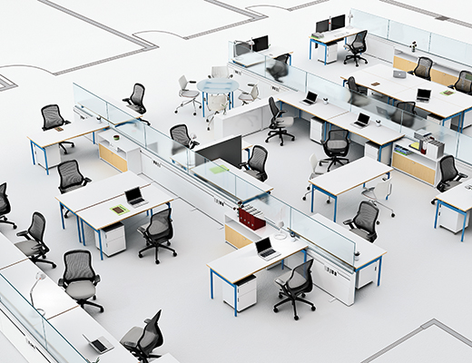 Knoll Antenna Workspaces Open Plan Office