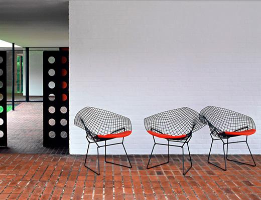 Bertoia diamond chair knoll - Bertoia coffee table ...