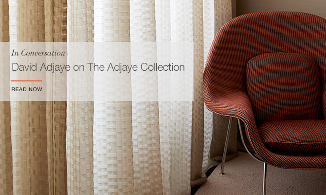 David Adjaye on The Textile Collection for KnollTextiles