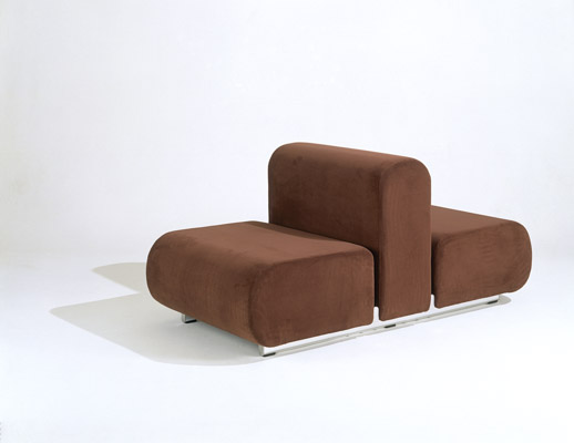 Kazuhide Takahama Suzanne Double Lounge Chair in brown upholstery