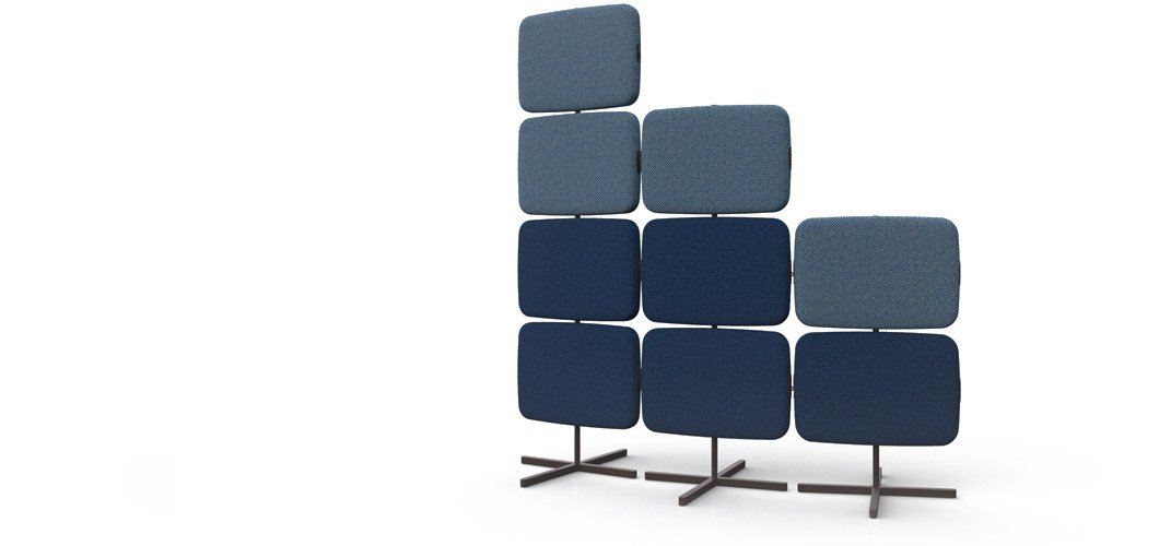 Rockwell Unscripted Telly Screen Freestanding Modular Privacy Wall by Knoll