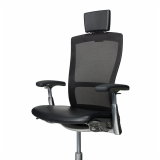 Knoll black Life chair with headrest