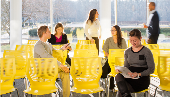 Classroom with MultiGeneration by Knoll® Stacking Chairs