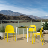 stromborg table olivares aluminum chairs outdoor dining knollstudio