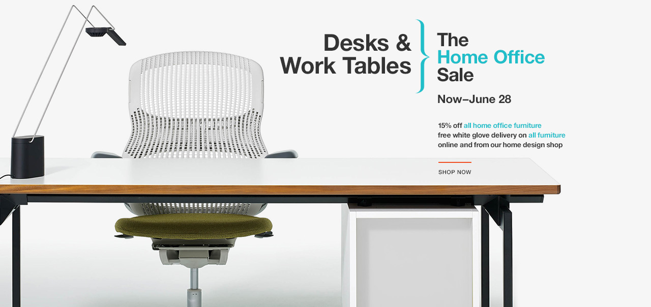 Shop Desks and Work Tables. The Knoll Home Office Sale. Now–June 28
