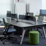 neocon 2018 hospitality at work rockwell unscripted sawhorse workbench regeneration by knoll upholstered seat benching mobile storage cart conversation board