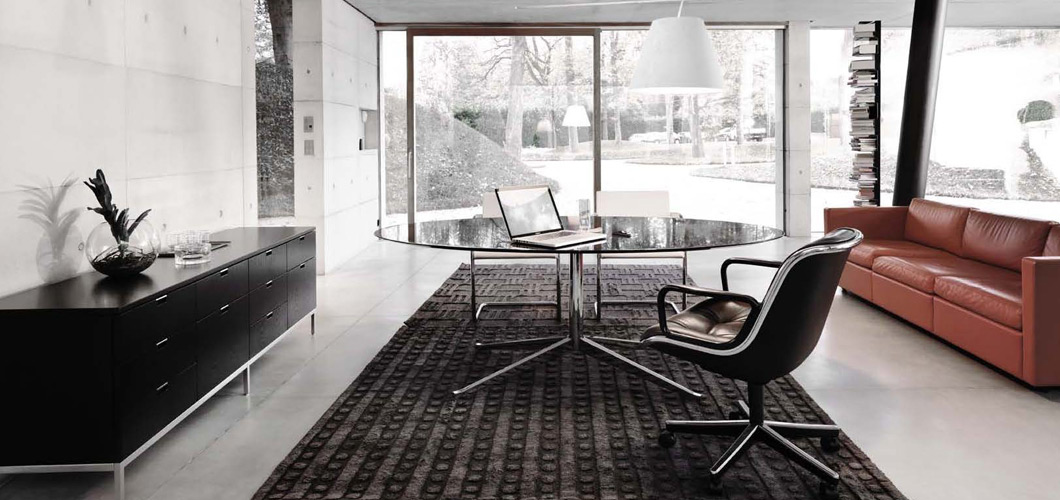 Home Office Florence Knoll Table Desk Pollock Chair