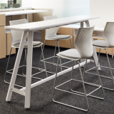 neocon showroom 2017 efficient planning rockwell unscripted tall table immersive planning multigeneration by knoll stool