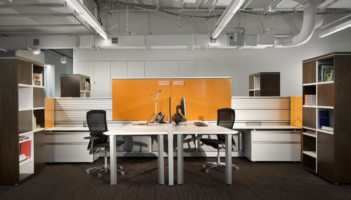 Autostrada open plan furniture is architecture for the workplace.