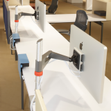 Sapper Monitor Arm on Antenna Workspaces Linked Desk