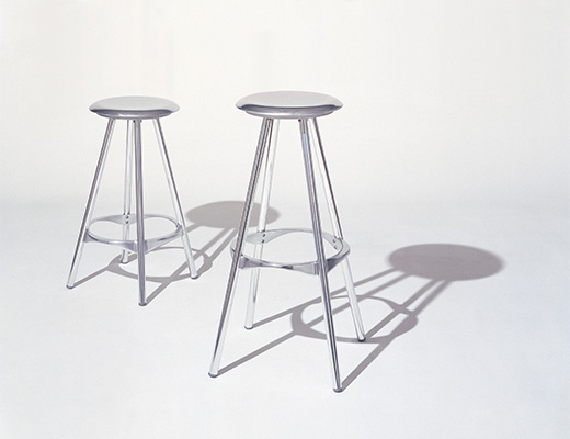 KnollStudio metal kitchen Twist Barstools