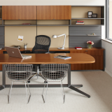 Dividends Horizon private office with Generation by Knoll and Bertoia side chairs