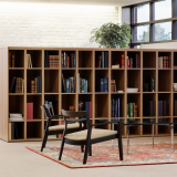 anchor storage open lockers Barcelona table Krusin lounge chair Womb settee Saarinen Executive Armless chair Dividends Horizon table Community Space Activity Space Library
