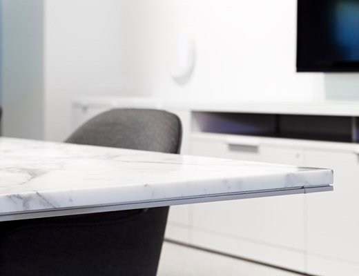 LSM Marble Conference Table detail